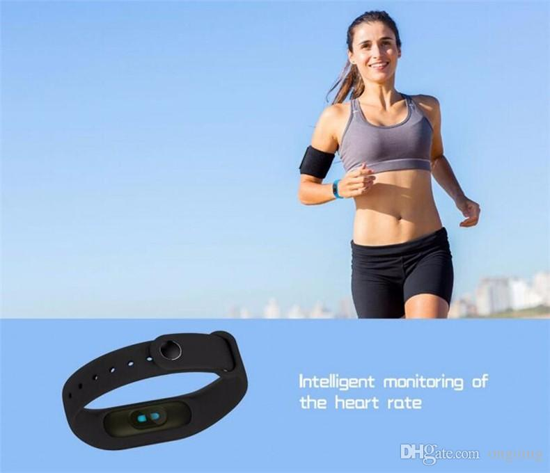M2 Fitness tracker Watch Band Heart Rate Monitor Waterproof Activity Tracker Smart Bracelet Pedometer Call remind Health With OLED Display