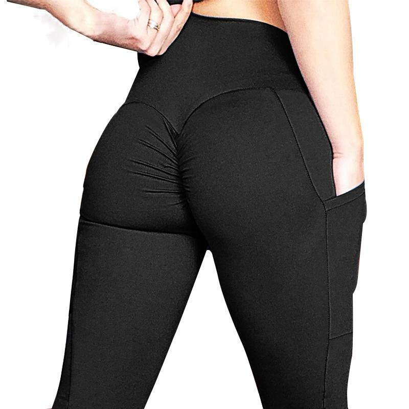 67c9fc44ca35b 2019 Sexy Push Up Women Legging Solid Color High Waist Workout Leggings  Femme Pocket Trim Leggings Female Women'S Clothing From Liasheng08, $25.37  | DHgate.