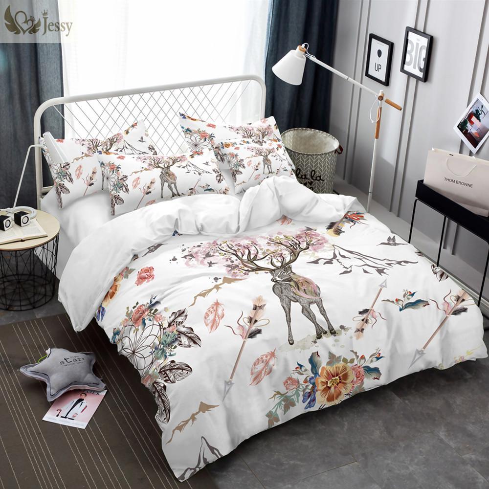 Acheter Jessy Home Ensemble De Literie Floral Moose Housse De