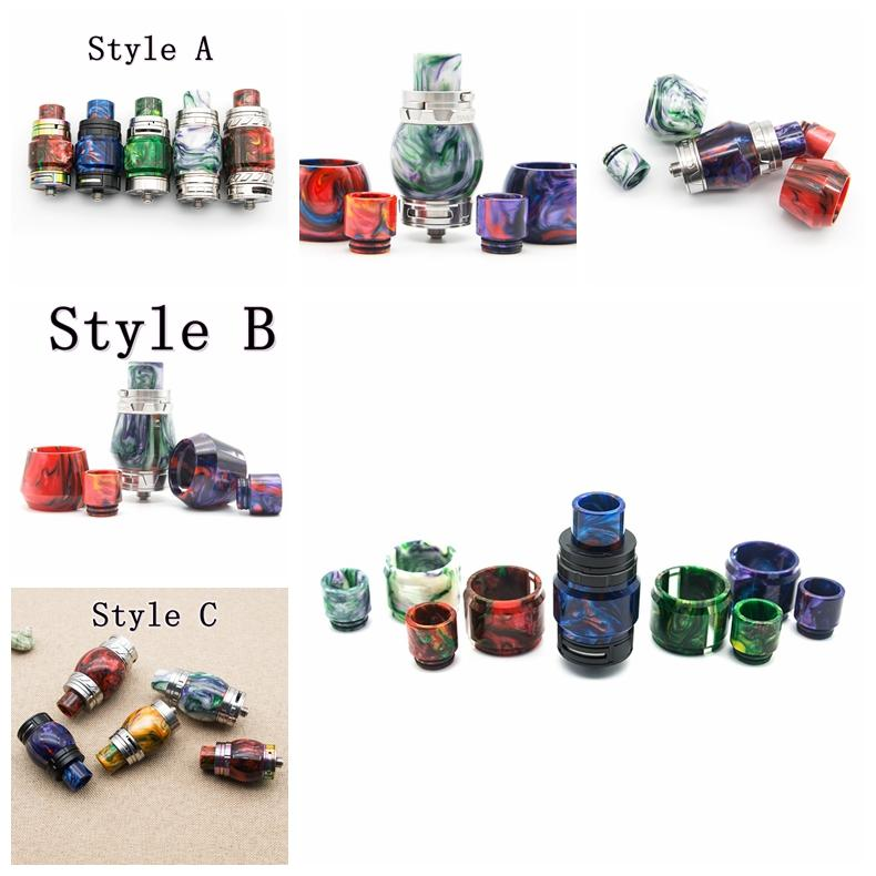 Resin Replacement Tube Caps Drip Tip Kit Big Capacity For TFV8 Baby Big Baby X Baby TFV12 PRINCE Glass Tank Expansion Tank High Quality