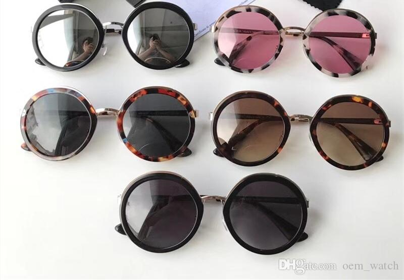 43ce2c5506 2018 Vintage Round Frame Sunglasses Lady Fashion Design Sunglass Retro Big Frame  Shades Sunglasses Classic Female Hipster Sun Glass With Box Cool Sunglasses  ...