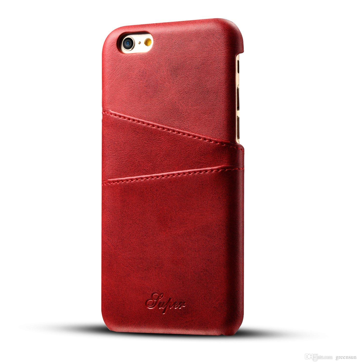 huge selection of 93dbf 24a25 SALE! Luxury Genuine Wallet Phone Case, Slim Leather Back Case Cover With  Credit Card Holder for iPhone 6/6s with retail packing