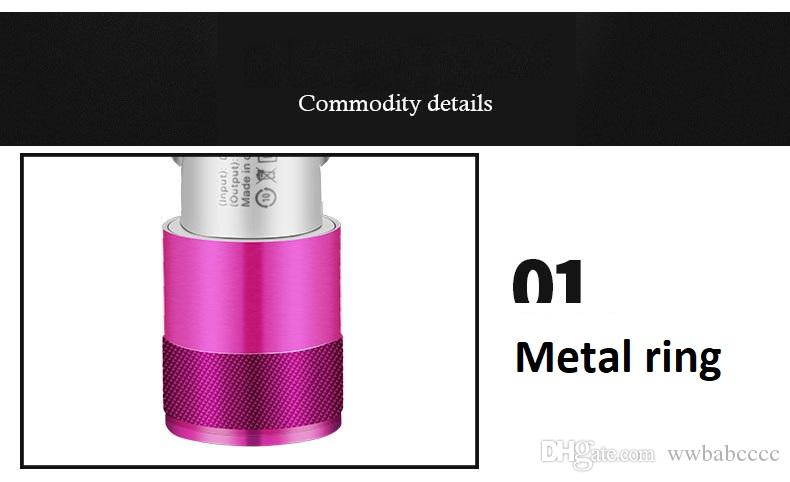 Metal Dual USB Port Car charger,12V/24V Universal 2.1 A &1A Led Charging Adapter For iPhone 6 7 8 Samsung S8 Tablet Nokia IPAD etc