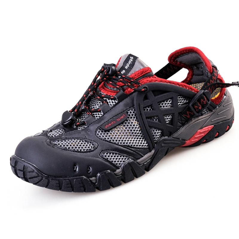 acebd6fff97 2019 2017 Men Outdoor Sneakers Breathable Hiking Shoes Big Size Men Women  Outdoor Hiking Sandals Men Trekking Trail Water Sandals From Yangmeijune