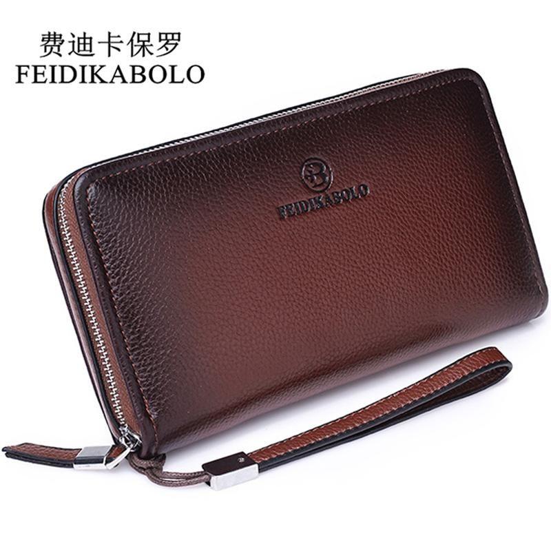 52b4fd89b0fd2 FEIDIKABOLO Luxury Male Leather Purse Men's Clutch Wallets Men Brown Dollar  Price Handy Bags Business Carteras Mujer Wallets