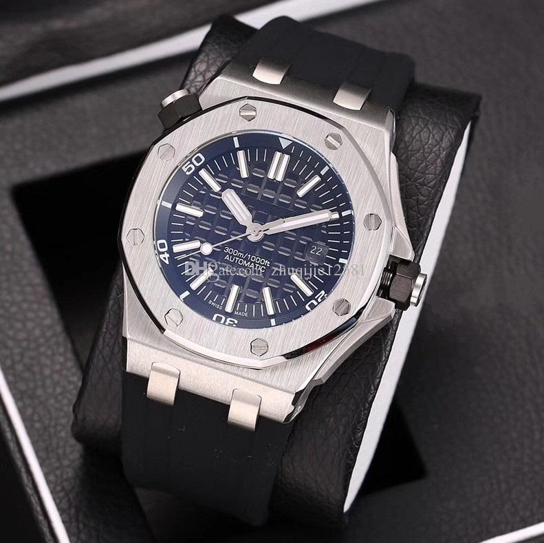 New AAA luxury fashion men's watch royal rubber three-pin machineryretail or wholesale rejols gift