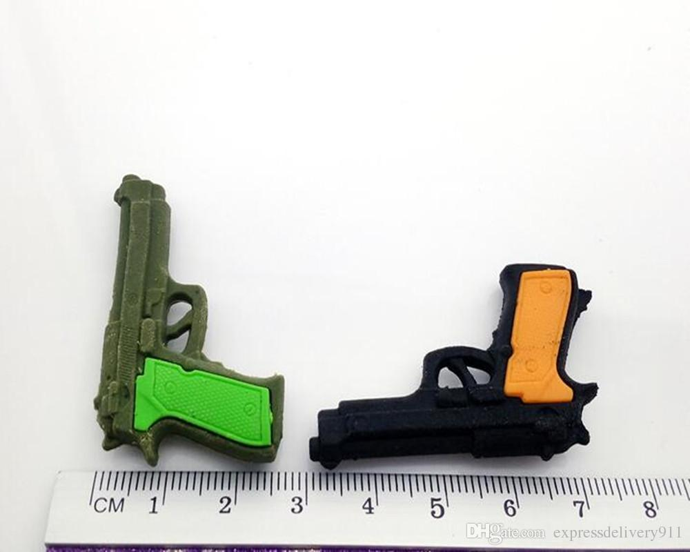 Mini Pistol Toy Rubber Eraser Set Magic Promotion School Eraser Children Party Eraser Wholesale Stock Stationery
