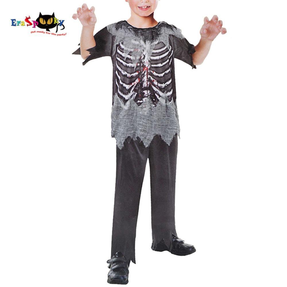 boys skeleton zombie costume halloween costume kit carnival holidays