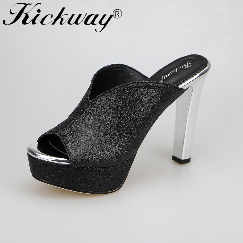 87e5572d5a8fee Kickway Women High Heel Platform Sandals Flip Flops Woman Fashion ...