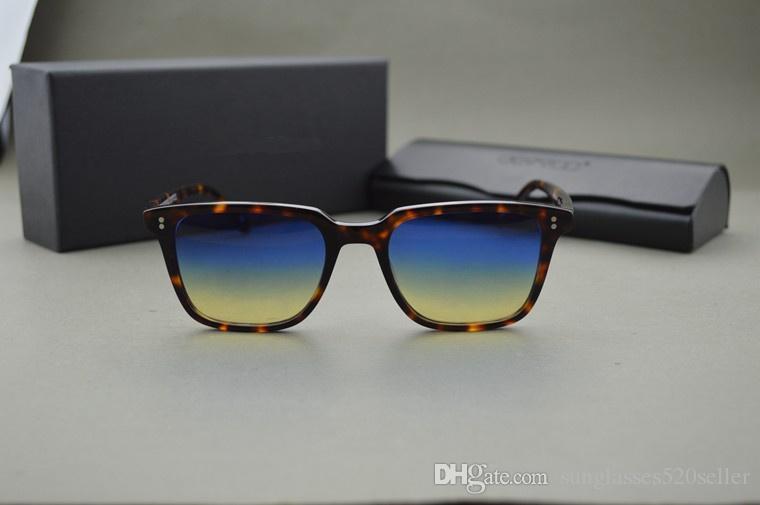 CALDO! Personalizzati tinto di lenti a Oliver Peoples ov5031 NDG-1-P occhiali da sole uomini e donne d'epoca occhiali da sole quadrati, con custodia originale