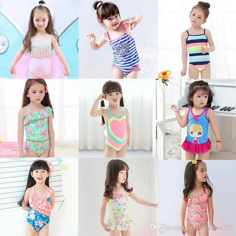0e06f4f461a6a 2019 2018 Girls Swimwear Cute Princess One Pieces Swimsuit Kids Ruffled Swimming  Suit For Girl Children Bathing Suit From Fashiondress520, $6.42 | DHgate.