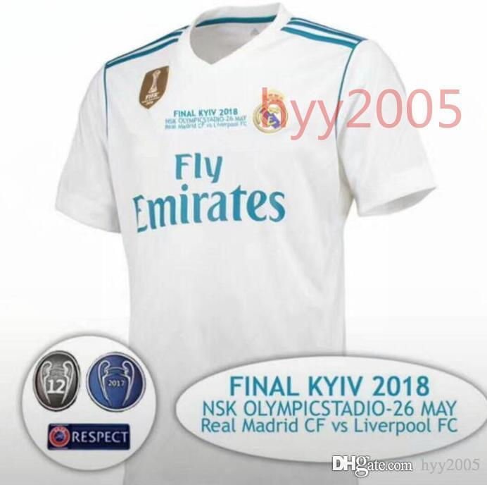 4fce754d1 2018 Champions League Champion League Real Madrid Jersey 2018 ...