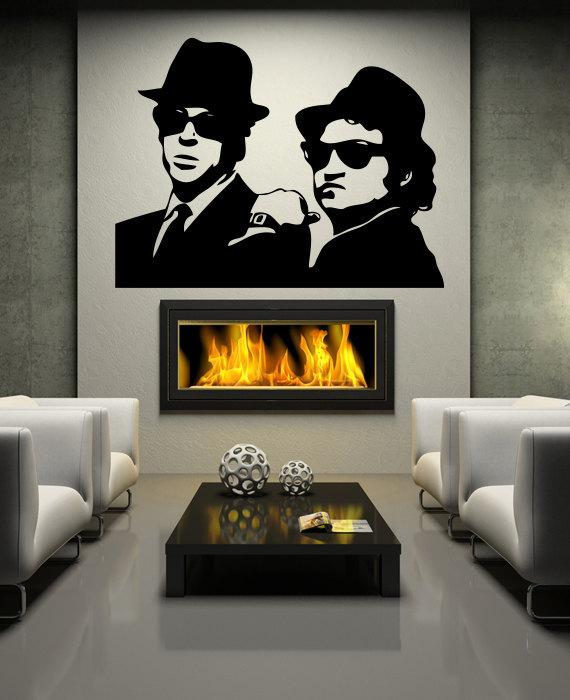 The Blues Brothers Wall Decal Bedroom Wall Art Decal Decor Wallpapers Vinyl  Stickers