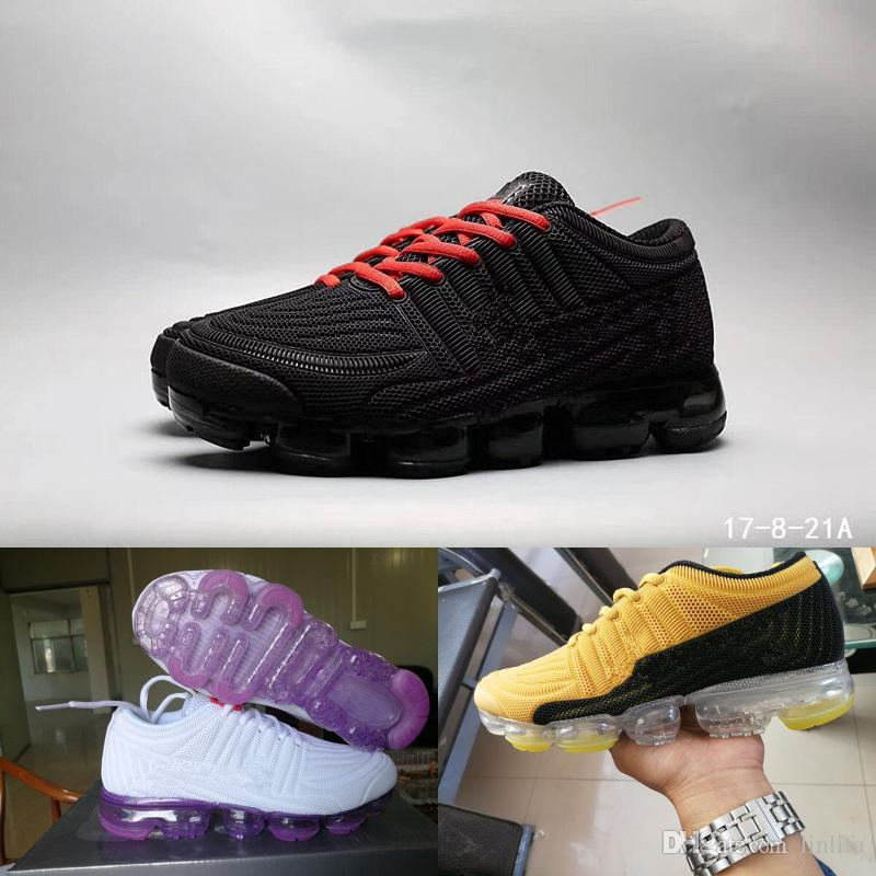 on sale f99fd 7af8f Compre 2018 Hot Sale Vapormax Hombres Zapatillas De Running Barefoot Soft  Sneakers Mujeres Respirables Athletic Sport Shoe Negro Oro Blanco Azul  Marca ...
