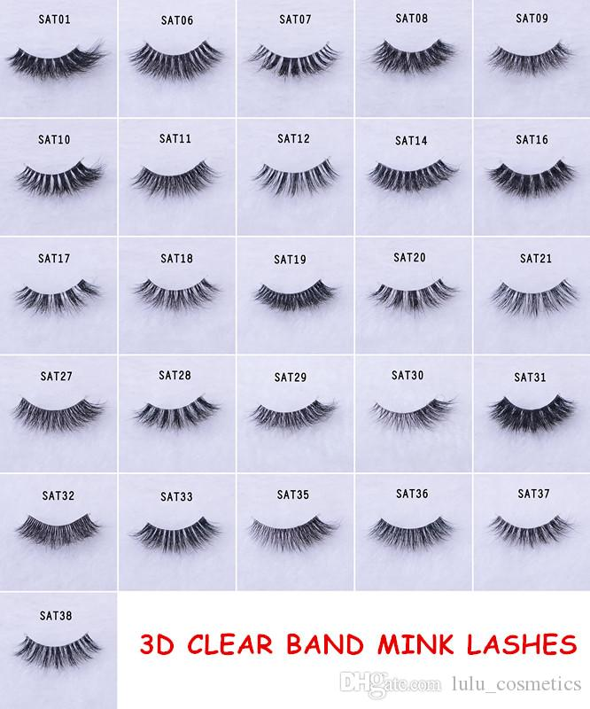 dde3c4f7bf8 3D Mink Lashes Plastic Black Terrier Natural Long Thick False Eyelashes  Hand Made With Clear Band Makeup Tools Eyelash Perm Eyelashes Falling Out  From ...