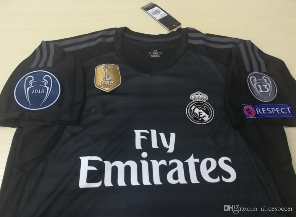 2019     Real Madrid Goalkeeper GK La Liga 1 Keylor Navas Jersey Set Soccer  1 Iker Casillas 13 Casilla Thibaut Courtois Football Shirt Kits Unifo From  ... f4fd25d06