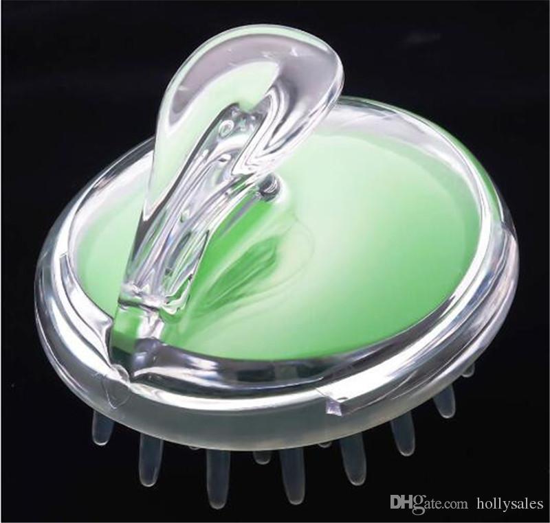Silicone Shampoo Scalp Massage Brush Hair Washing Comb Head Scalp Massager Bath Spa Brush DHL