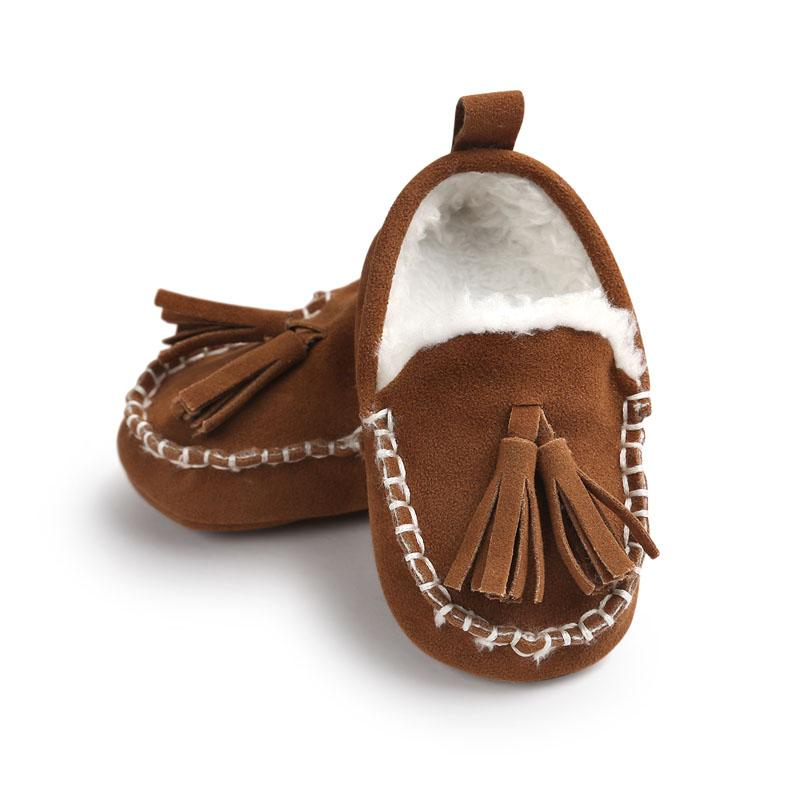 f63e693237494 Wonbo Tassel 2018 Winter Baby Moccasin Soft Bottom Infant Moccasin PU  Leather Prewalkers Boots Newborn Babies Shoes