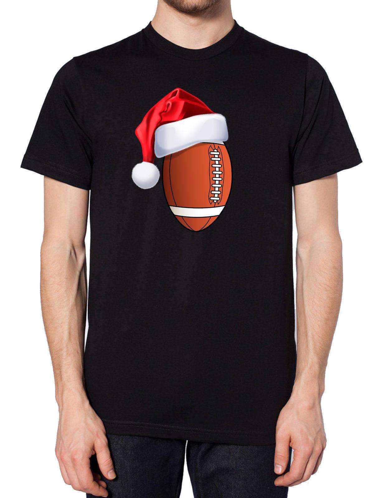 Compre Futebol Americano De Natal Chapéu De Papai Noel T Camisa Esportista  Festa Festiva Novidade Legal Casual Pride Camiseta Homens Unisex Nova Moda  De ... a58ffd8e5de