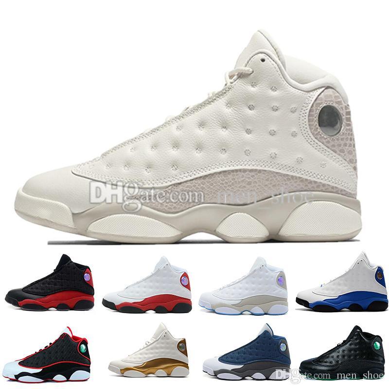 f2e8ddeee737b Compre 13 13s Zapatos De Baloncesto Para Hombre Phantom Hyper Royal Italia  Azul Burdeos Pedernales Chicago Bred DMP Trigo Oliva Marfil Gato Negro  Hombres ...