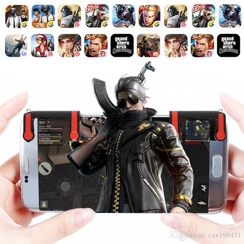 Новый телефон Gamepad триггер телефон игровой ручки MX мобильная игра огонь кнопка цель ключ L1r1 шутер контроллер PUBG FUT1