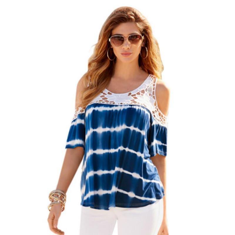 Compre 2019 Mujer Verano Blusa De Encaje Blusa Mujer Oficina Body Top Blusas  Camisas Ropa Casual Blusas Jersey Tops Tallas Grandes S 5XL A  27.06 Del ... ffc4d8bbba7d
