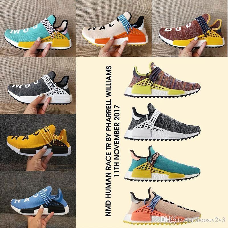 4a503b4ec 2018 New Holi Human Race Pharrell Williams X Sports Running Shoes ...