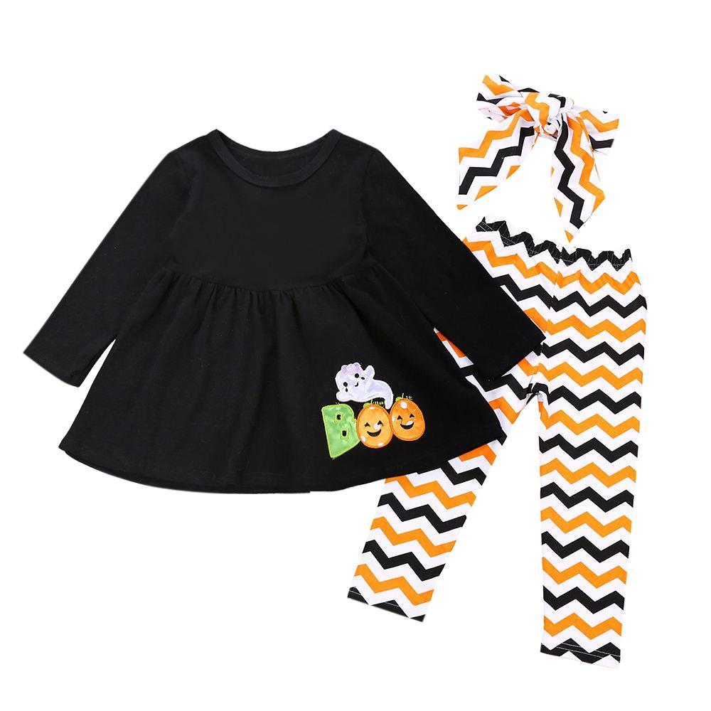 f773bbb5c Bebés Infantiles Bebés Carta Fantasma Vestidos Pantalones Trajes de  Disfraces de Halloween Bebés Encantadores Al Por MayorDropshipping # 20