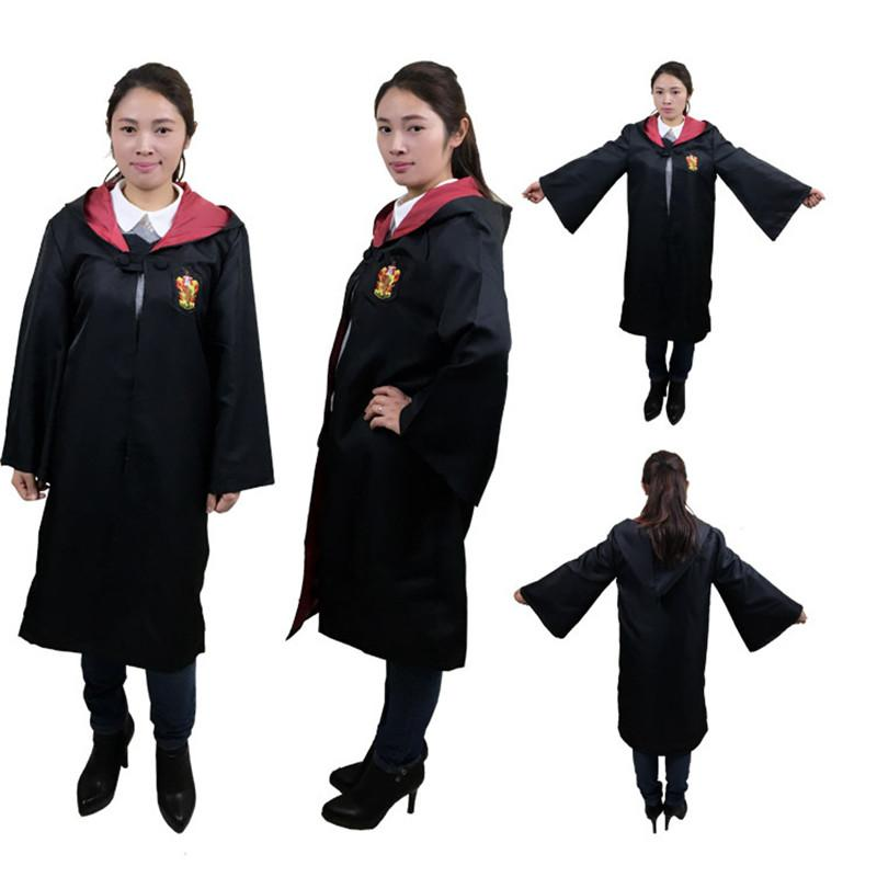 Harry Potter Cloak Cape Magic Robe Adult Boys Girls Gryffindor