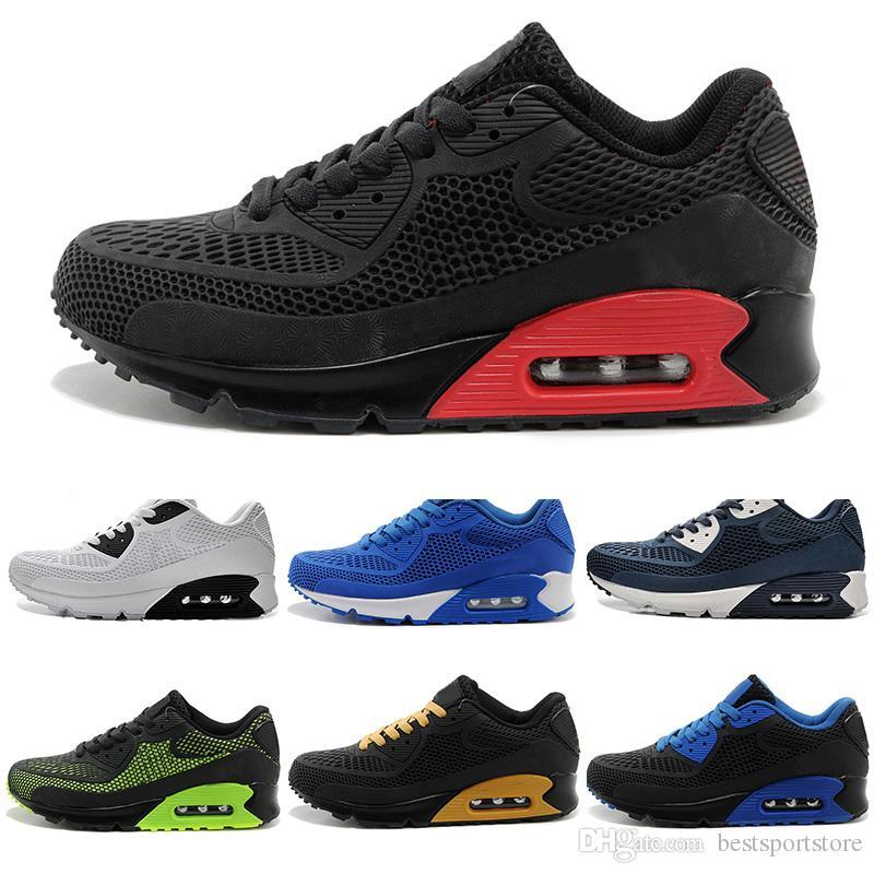 57717c53229 Compre Nike Air Max Airmax 90 Nuevos Zapatos Ocasionales Cojín 90 Kpu  Hombres Mujeres Zapatillas De Deporte De Alta Calidad Todos Los Zapatos  Deportivos ...