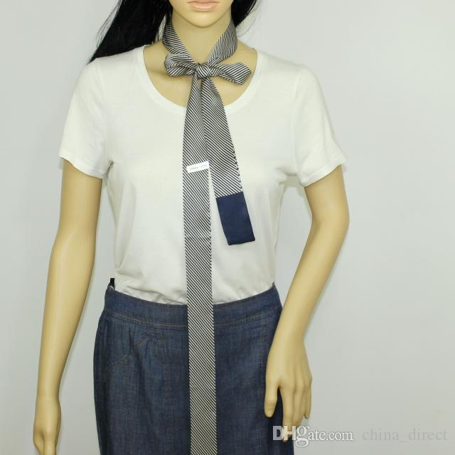 2 ply girl women Natural Silk skinny Scarf long Scarves Neckerchiefs Long Slim Thin Belt Sash Ribbon Choker Neck Tie Accessory#4067