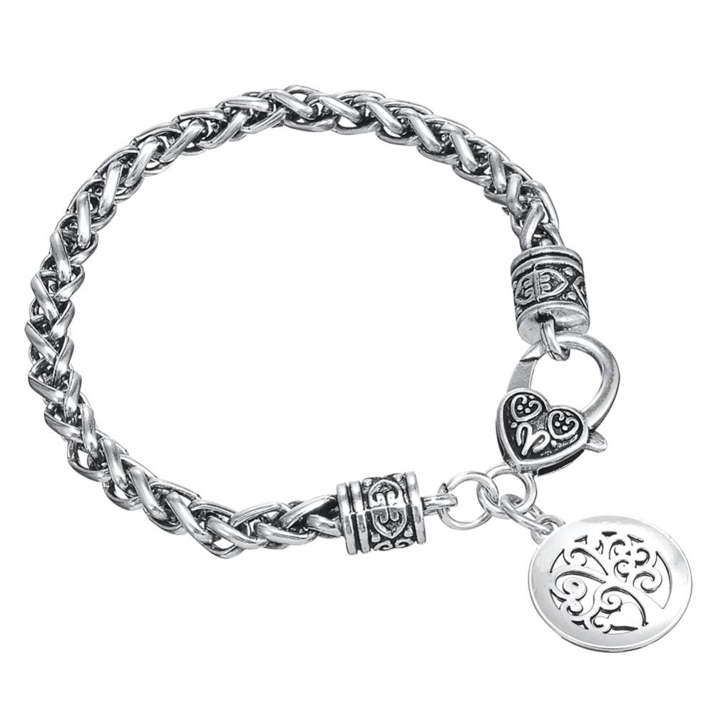 Minimal Brand MOM Message with you are the heart of our family Charm Bracelet for Mother's Day GIFTS Wicca Talisman Amulet