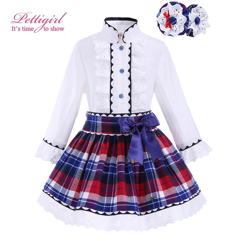 7ae3b71ae4b Pettigirl Spring Girls Clothing Set with Headwear Kids Lace Cuff ...