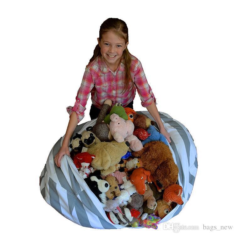 Baseball Storage Bean Bag Football Basketball storage bag 18inch Stuffed Animal Plush Pouch Bag Clothing Laundry Storage Organizer