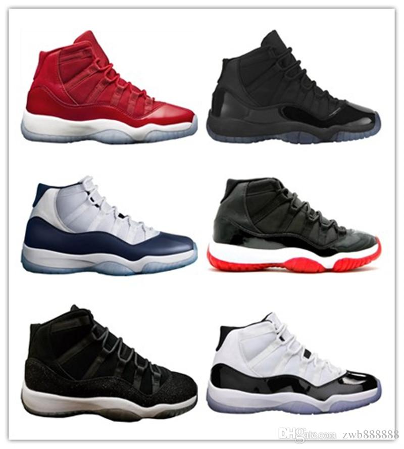 93055a87c35b52 2018 Latest 11 Gym Red 11s Successor Black Sable OVO Midnight Navy Breed  Shoes 11s Men Women Basketball Shoes Sneakers Drop Ship Shoes On Sale Cheap  ...
