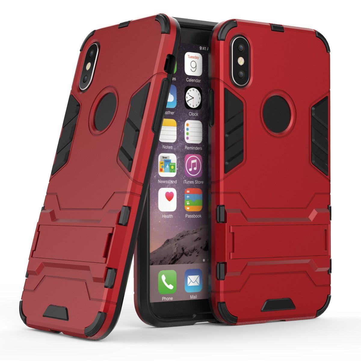 Iron Man Armor Case TPU PC With Kickstand Feature Back Case For LG LV3 LV1  LV5 K20 Plus Harmony K20 V Grace M250 K7 K8 Tribute 5 Escape 3