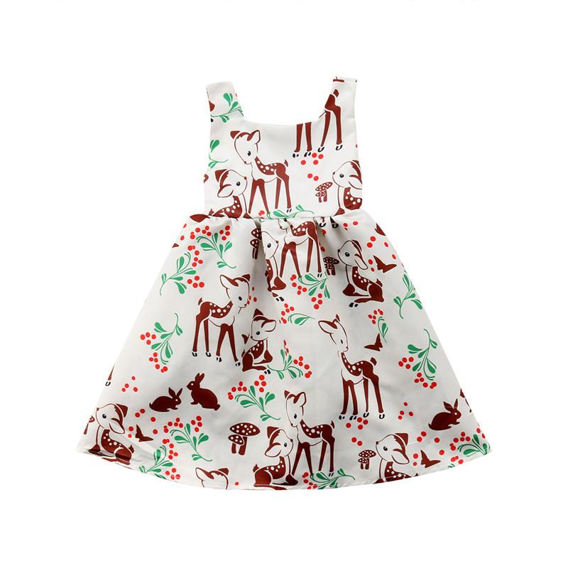 4afffd44c158 2019 Toddler Baby Girls Clothes Animal Print Sleeveless Round Neck Backless  Cotton Kids Princess Party Summer Mini Dresses One Pieces From Dejavui, ...