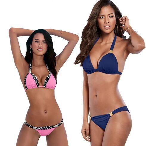 2a4c1f3c5c7f8 2019 Le Sexy Halter Top Bikini 2018 Women Swimwear Bathing Suits Push Up  Swimsuit Bikini Set Maillot De Bain Biquini 906 From Sunnyhair6677