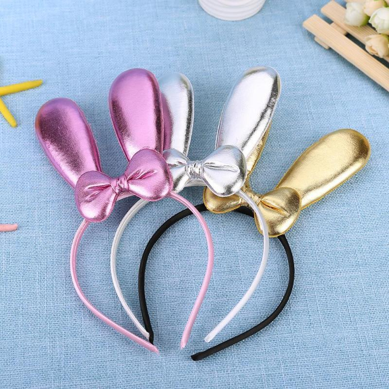 Girl's Accessories Korea Ribbon Bunny Hair Bands Rabbit Ears Hairband Flower Crown Headbands For Girls Hair Bows Hair Accessories D Professional Design Girl's Hair Accessories
