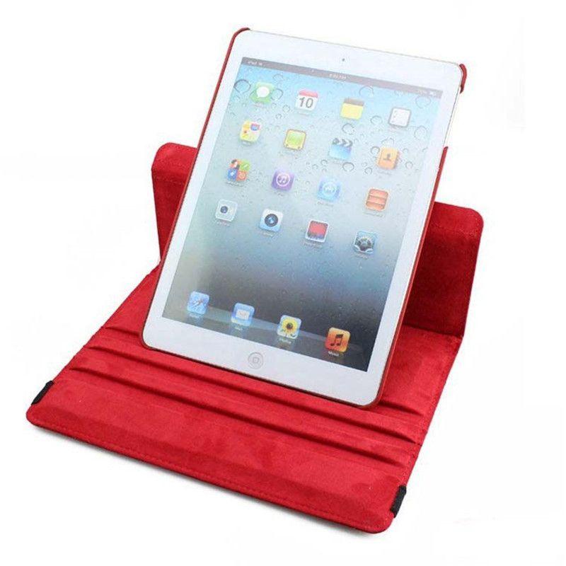 Couro PU de 360 Graus de Giro Multi-ângulo Suporte Folio mart Acorde Sleep Case Para Apple iPad 2 3 4 mini 1 Air Pro
