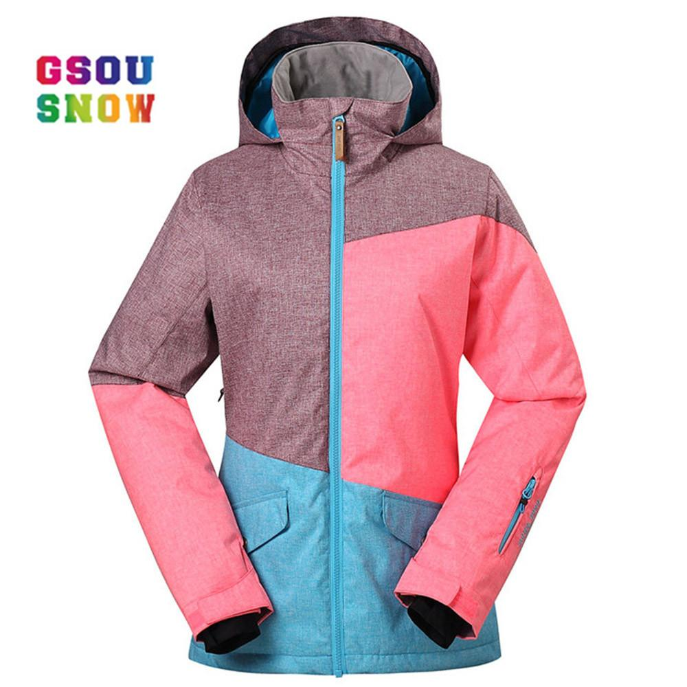 c915be2cbd 2019 GSOU SNOW Brand Ski Jackets Women Winter Snow Coats High Quality  Ladies Snowboard Jacket Warm Thicken Waterproof Ski Wear Ropa From  Qingbale