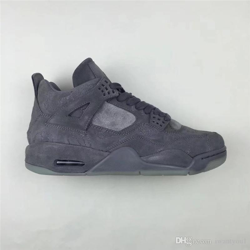 d368f712105d 2019 2018 Newest 4 XX Kaws Cool Grey 4S IV Basketball Shoes For Men ...