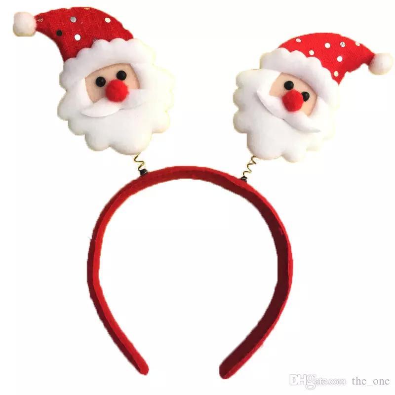 d2be6649c Compre Vendas De La Navidad Con El Muñeco De Nieve De Primavera Papá Noel  De Alce De Santa Claus Tocado Para El Traje De Fiesta Rendimiento Niño  Niños Envío ...