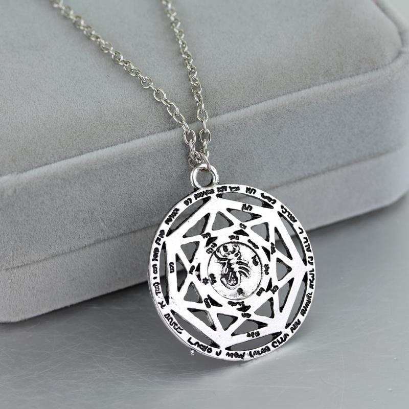 Supernatural Heptagram Scorpion Key of Solomon Necklace Pentacle Seal Pagan  Wiccan Pendants Necklaces
