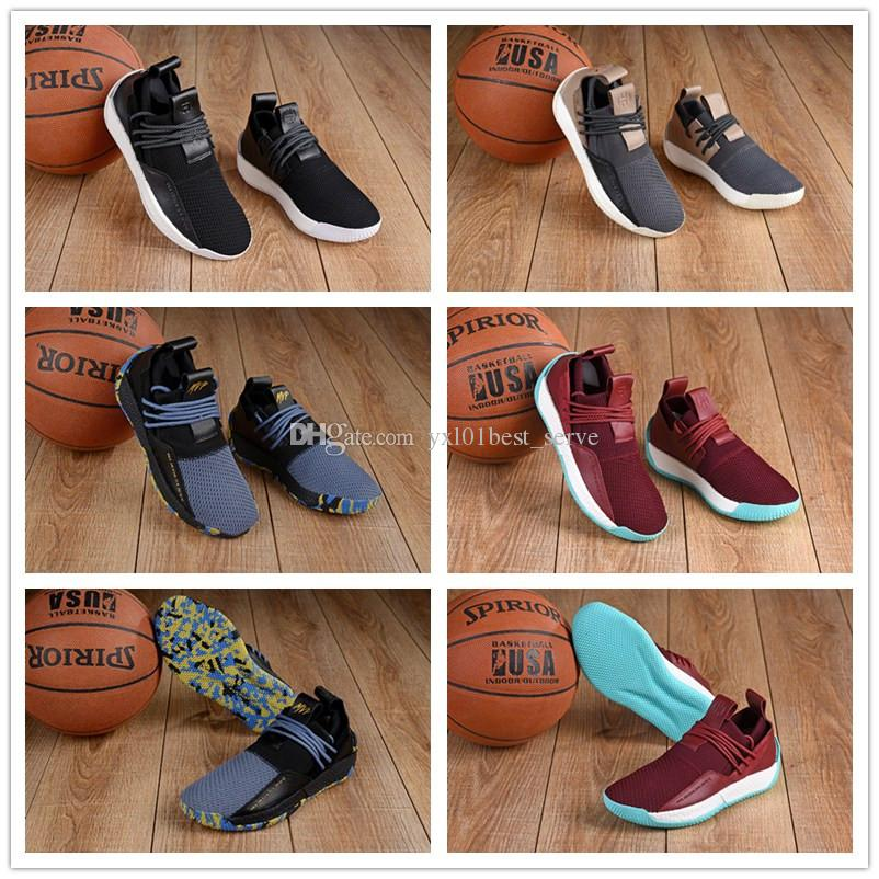 3ff7ecde26b 2018 New Harden LS 2 Lace MVP Luxury Basketball Shoes AAA+ Quality Grey  Black Red Blue Mens Fashion Designer Sports Sneakers Outdoorsg 40 46  Baseball Shoes ...
