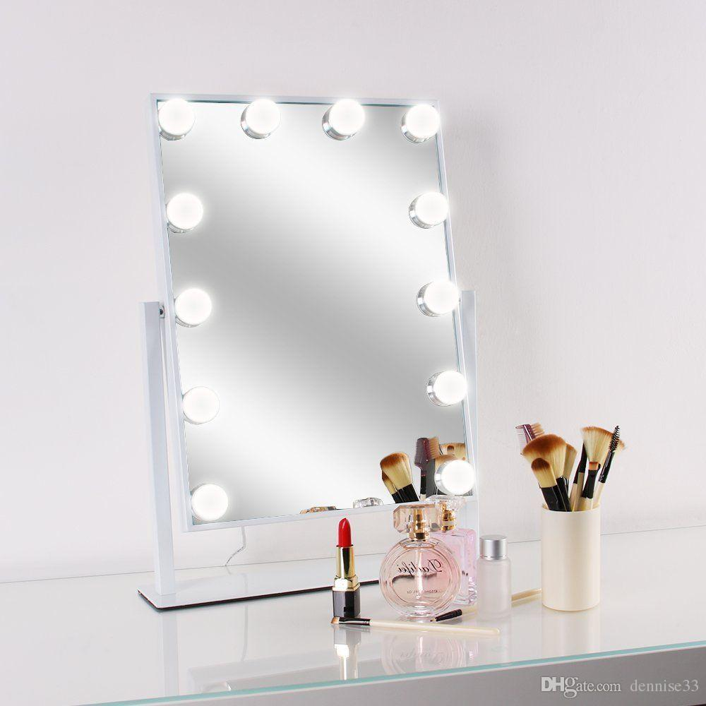 Led Bulb Vanity Lighted Hollywood Makeup Mirror With