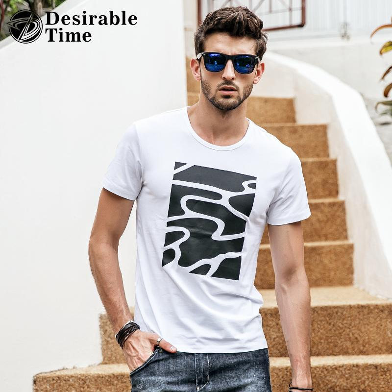 Mens White Graphic T Shirts Fashion 2018 Summer Style Short Sleeve T