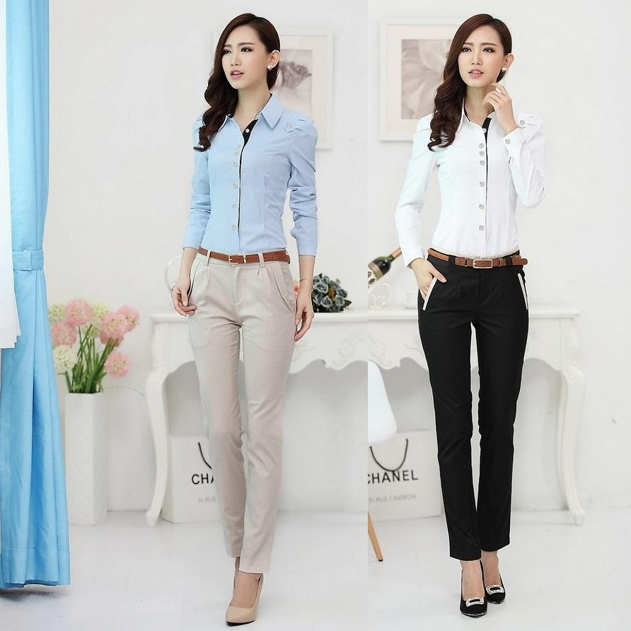 2018 new 2017 autumn formal women business suits with pant and shirt sets ol ladies clothing sets office uniform design for work from rebecco