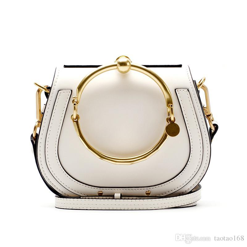 Luxury Handbags Women Bags Designer Ring Handle Tote Bags Rivet Hoop ... 0d6db7640febc