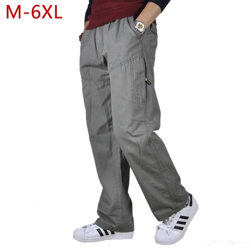 e9f6eb545d939 2019 M 6XL Cotton Men Casual Cargo Tactical Pants Autumn Plus Size Baggy  Men S Clothing Military Straight Jogger Trousers New 3XMR19 From  Bclothes002